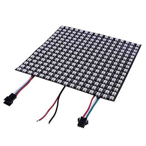 8 * 8 Programmierbarer Punktmatrix-Pixelbildschirm Digitales Flexibles LED-Panel (schwarz)