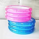 CCHM Aufblasbarer Kunststoffpool Spielzeug Aufblasbare runde Badewanne 3-stufiger Duschraum für Kinder Babypool,Rosa