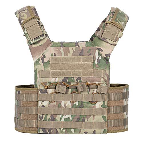 RUCKO Tactical Vest Adjustable Molle Military Vest for Men