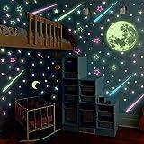 DSSJ Pasta de luz Nocturna Star Glow 3D Pasta de Pared Tridimensional Disposición de la habitación de los niños Dormitorio Alquiler de la habitación Renovación Decoración