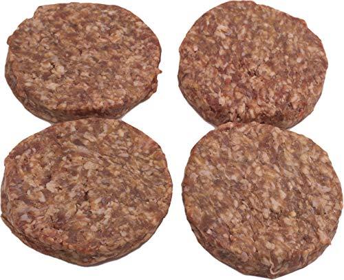 Smoked Burger-Patties 4x160g aus der Metzgerei DER LUDWIG, Handmade Craft Burger, über Buchenspähnen geräuchertes Rindfleisch, vakuumverpackt, für Hamburger/Cheeseburger