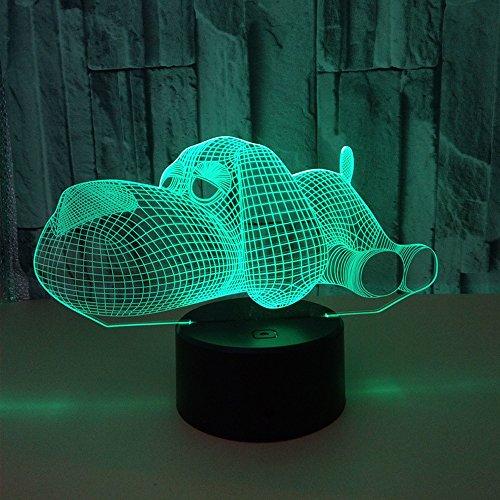 Veilleuse 3D pour animaux de compagnie - 7 couleurs - Télécommande - Pour chambre à coucher - Décoration principale - Cadeau de Noël