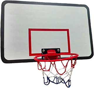 JumpKing ACC-UBSKU Universal Adjustable Spring-Loaded Trampoline Basketball Hoop and Net with Inflatable Basketball