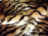 CRS Fur Fabrics Animal Fun Kunstfell Stoff Material–Tiger