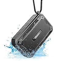 Perfetta per viaggiare: questa custodia Bluetooth portatile e compatta consente un trasporto senza problemi anche in viaggio. Protezione IP67 contro gli spruzzi d'acqua e lo sporco, quindi ideale per l'uso esterno in campeggio, in bicicletta o a fest...
