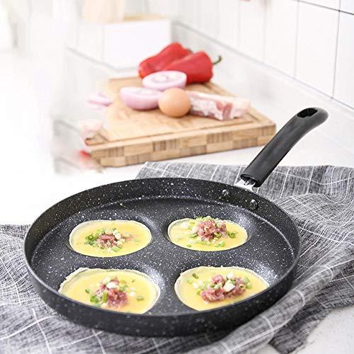 Wonderday Omelette Mini-koekenpan, 4 gaten, ontbijt, eierkodel, anti-stok pan, pannenkoekenpan, ei-braden schimmel hot sale outgoing
