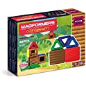 48-Pieces Magformers Log Cabin Educational Magnetic Tiles Building Set