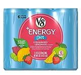 V8 V-Fusion +Energy Diet Strawberry Lemonade 8 Oz (Total of 6 Cans)