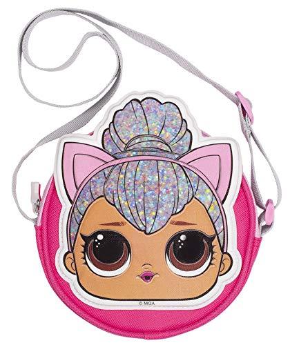 L.O.L Surprise! LOL Dolls Handtasche für Mädchen | Glitzer Crossbody Tasche | Fashion Schultertasche | Kitty Queen | Bühnenzentrum
