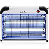 Lulu Home Electric Bug Zapper, Aluminium Indoor Insect Killer for Mosquito, Bug, Fly with Powerful 2800V Grid 20W Bulbs