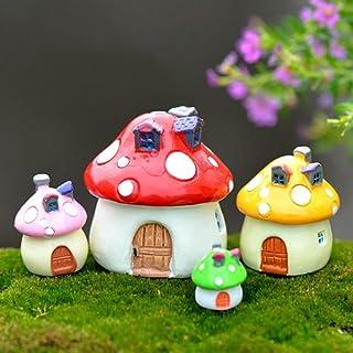 Miniature Garden Decor - Best Art Décor for Plant Outdoor Indoor 3 Sizes Mushroom Miniature Ornament DIY Craft Pot Fairy D...