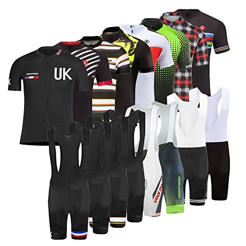 Uglyfrog 2019 New Summer Men's Short Sleeves Cycling Jerseys +3D Gel Pad BIB Shorts Road Bike Clothing DX10