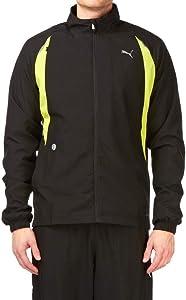Puma Mens Full-Zip Complete Running Warmup Jacket Black