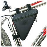 <span class='highlight'><span class='highlight'>Lezed</span></span> Nylon Bike Triangular Bag,Oxford Bag Installation to Mountain Bikes,Bicycles, Racing Bicycle(black)