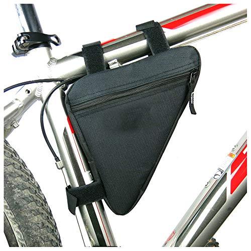 Lezed Qualität Nylon dreieckigen Fahrradtasche, Satteltasche für Mountainbikes, Fahrräder, Rennräder (Schwarz)