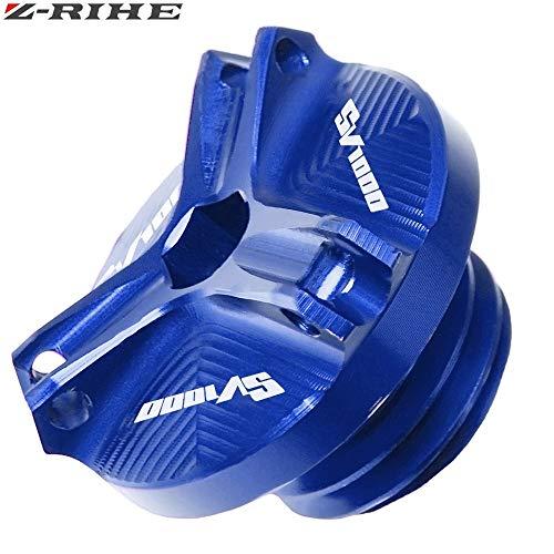 MUJUN Reserve for Suzuki SV650 SV 650 S SV1000 SV 1000 Motorrad-Zubehör for SV 1000 Motorölablassschraube Sump Nut Cup-Stecker-Abdeckung SV1000 (Color : Blue)