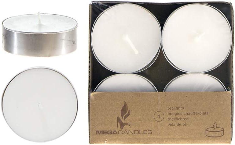 Mega Candles 12 pcs Unscented Lights Tea Rare security White Candle Oversize