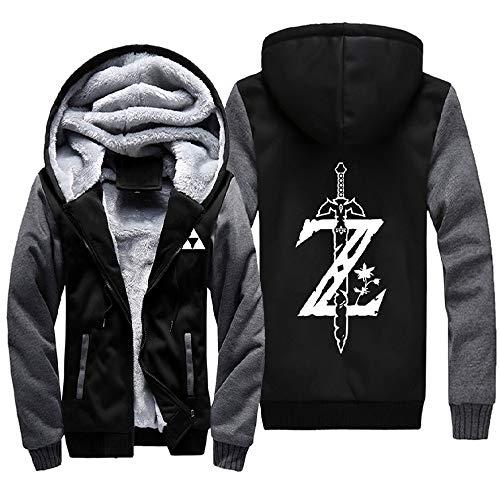 Herren Kapuzenpullover Kapuzenjacke Winddicht Plus Thick Warm Langarm Coat Zip Jacket Outdoors Pullover Men's Sweatshirt Unisex Cardigan Sweater Casual Jacke Anime Legende Von Zelda S