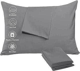 Niagara Sleep Solution Sheet Sets Polysatin & Microfiber 4 Pack Pillow Protectors Grey