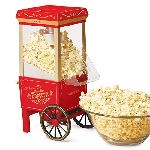 Lowest Prices! Nostalgia OFP-501 Old Fashioned Popcorn Machine, 1040 W, 120 V, 12 Cup, Red