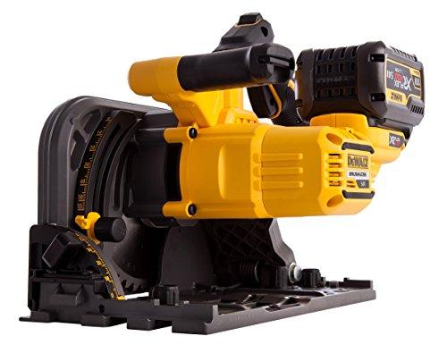 Dewalt DCS520T2-GB XR Flex Volt Cordless Brushless Plunge Saw with 2 DCB546 Batteries, 54 V, Yellow/Black, 2 x 18 Volt 6.0Ah Li-Ion, Set of 6 Pieces