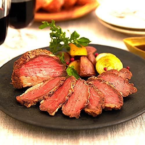 US産ローストビーフ 牛もも ブロック 125g ローストビーフ ソース付き US産 肉 お祝い ギフト ソース付き 母の日 父の日 牛肉 パーティ おつまみ 敬老の日 インスタ映え (3個セット)
