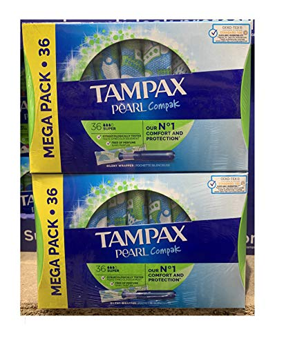 Tampax Compak Pearl Super, Mega Pack 36