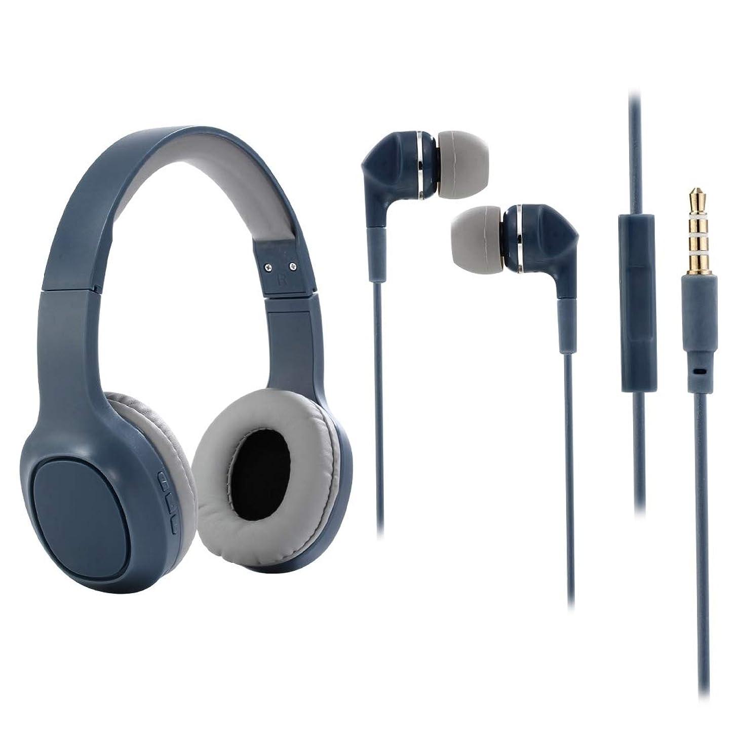 野心前述のひらめきワイヤレスBluetoothヘッドセット LLP Z3-05カードの電話小型ワイヤレスBluetoothヘッドセットステレオヘッドフォンを頭にマウント(アーミーグリーン) (色 : Blue)