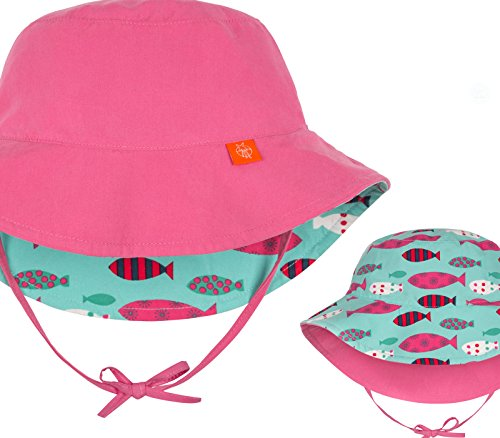 Lässig Splash & Fun Sun Protection Bucket Hat / Wendbarer Baby Sonnenhut / UV-Schutz 50+, Girl, infant, 6 - 18 Monate, light pink