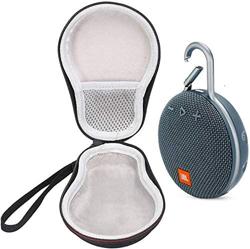 JBL Clip 3 IPX7 Waterproof Portable Bluetooth Speaker Bundle with Deluxe Travel Case Blue product image