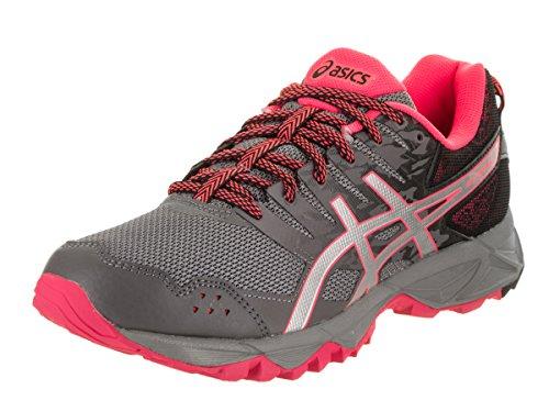 ASICS Women's Gel-Sonoma 3 Trail Runner, Carbon/Silver/Diva Pink, 6.5 M US