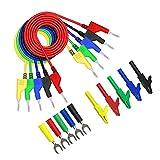 LAANCOO Prueba multímetro de Plomo Kit de Enchufe de plátano Cables de Prueba de 4 mm P1036A multímetro Kit de sondas Dobles Final de Pruebas de Cable Conjunto