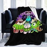 MAIMATIEKE Ultra Soft Monsters, Inc Blankets Warm Funny Flannel Fleece Blanket Fits Couch Sofa Bedroom Living Room for Women Men's 50'X40'
