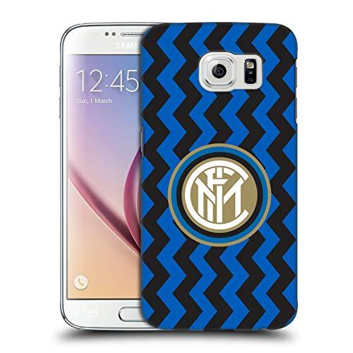 Head Case Designs Ufficiale Inter Milan in Casa 2020/21 Kit Crest Cover Dura per Parte Posteriore Compatibile con Samsung Galaxy S6