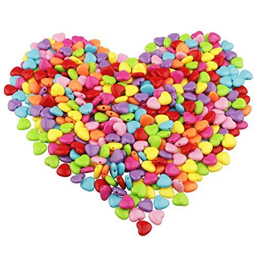 Yixuan LLC Pony Beads 450pcs 12mm Craft Granos Granos Pequeños colorido acrílico perlas de perlas de plástico El color del caramelo
