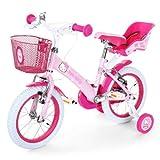 Hello Kitty Bicicleta infantil con ruedas de 35,56cm (14', Sillín altura...