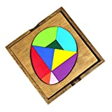 D DOLITY Rompecabezas Madera Puzzles Placa de Madera Juguete de Inteligencia - 13.5 x 13.5cm