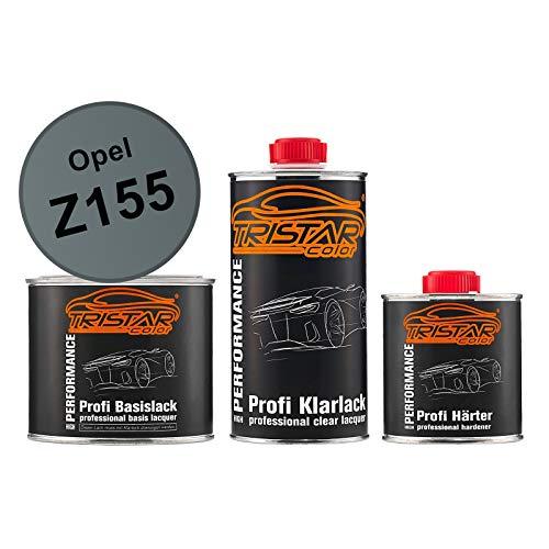 TRISTARcolor Autolack Set Dose spritzfertig für Opel Z155 Moonland Metallic Basislack + 2K Klarlack 1,25L