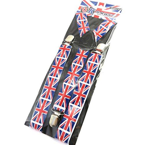 Les Trésors De Lily M9094 - Bh-trägerriemen 'So British' rot weiß blau (union jack).