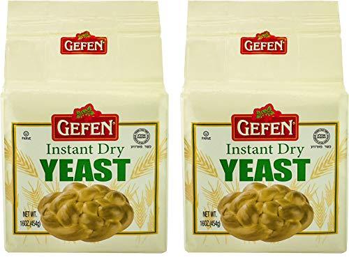 Gefen Instant Dry Yeast, 1 pound (2 Pack)