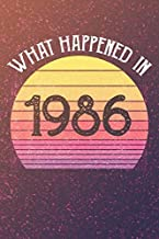 What Happened In 1986: Birthday Gift for Women Men - (6x9 Inch 100 Lined Pages) Present Ideas For Dad Mom Friend, bday gifts For Husband Wife, Lined Journal ,Present Born In 1986