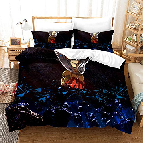 FAIEK Bedding 3 Pieces Duvets Covers Pillowcase Dark Night Bald Superman Microfiber Bedding Comfortable Breathable Duvet Cover Set Fashion Home Bed Linings 200X200CM