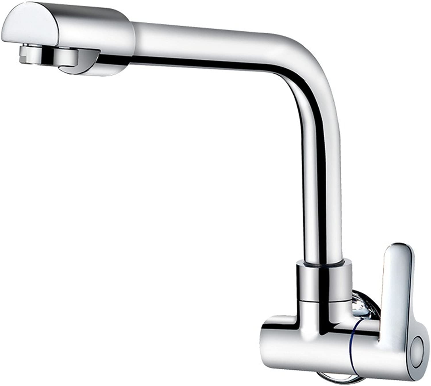 SADF Faucet Full Copper Body 360 Degree redating Into The Wall Single Cold Kitchen Faucet