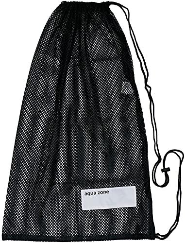 Bolsa de malla con cordón para natación, playa, buceo, viajes, gimnasio, pelota - -