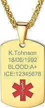 PROSTEEL Free Engraving - Custom Medical Alert ID Bracelet/Necklace Emergency Contact Stainless Steel Jewelry for Men/Women