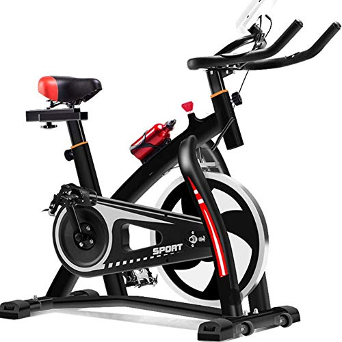 Review ALGWXQ Nfinite Resistance Spin Bike Belt Drive Exercise Bikes with LCD Monitor Heart Moniter ...