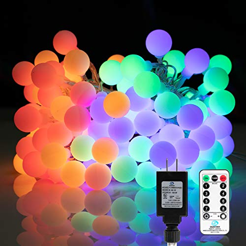 33 FT 100 LED Globe Ball String Lights, Fairy String Lights Plug in with Remote, Decor for Indoor Outdoor Party Wedding Christmas Tree Garden (Multicolored)
