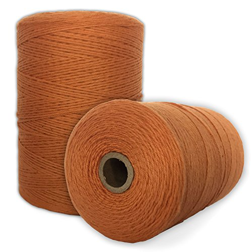 100% Cotton Loom Warp Thread (Vintage Orange), 8/4 Warp Yarn (800 Yards), Perfect for Weaving: Carpet, Tapestry, Rug, Blanket or Pattern - Warping Thread for Any Loom
