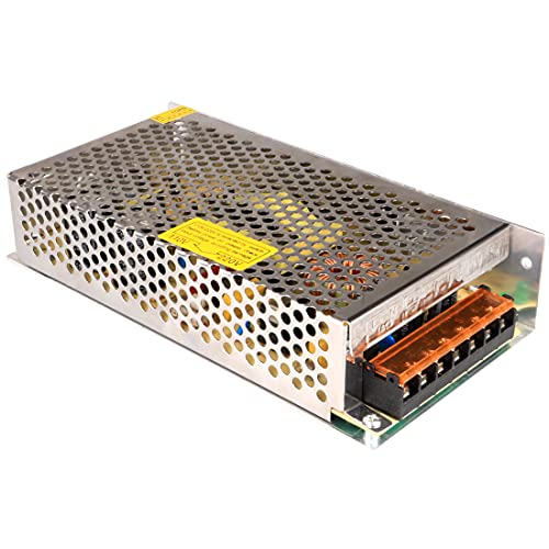 GUUZI Convertidor de Conmutación, Adaptador de Fuente de Alimentación de CA/CC, Controlador de Transformador para Tiras de Luces LED, CA 100 V / 240 V a CC 12 V 10 A 120 W