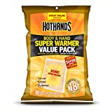 Body & Hand Super Warmers - Long Lasting Safe Natural Odorless Air Activated Warmers - Up to 18 Hours of Heat - 10 Individual Warmers - New